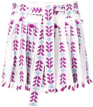 Dodo Bar Or embroidered pleated skirt