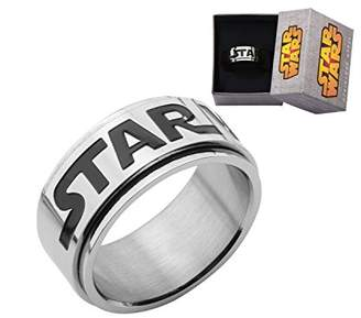 Star Wars Jewelry Logo Stainless Steel Spinner Ring