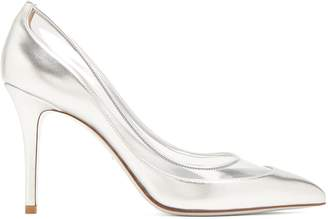 Valentino Glassglow leather and Plexiglas pumps