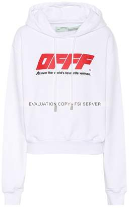Off-White Offf printed stretch-cotton hoodie