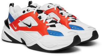 Nike M2k Tekno Leather, Nylon And Mesh Sneakers