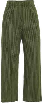 Pleats Please Issey Miyake Pants Straight Elastic Waist