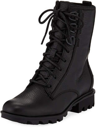 5e2ff9bc6b21 Sorel Black Lined Leather Boots For Women - ShopStyle Canada