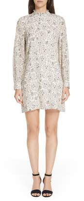 Derek Lam 10 Crosby Floral Print Silk Dress