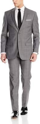 Tommy Hilfiger Men's Two Button Slim Fit Glenplaid Suit