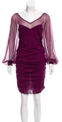 Ungaro Ruched Midi Dress