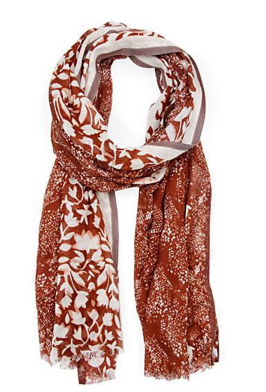 MANGO Cotton printed foulard