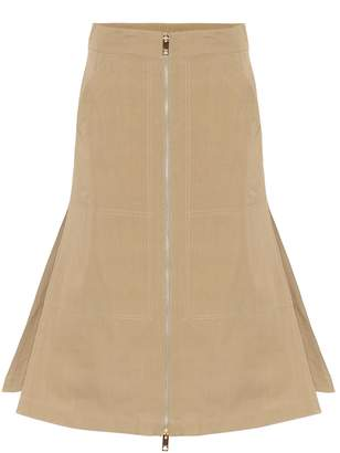 Burberry Cotton and silk twill skirt