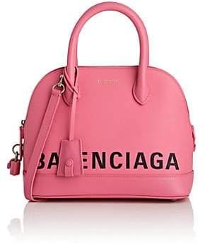 Balenciaga Women's Ville Small Leather Bowling Bag - Rose