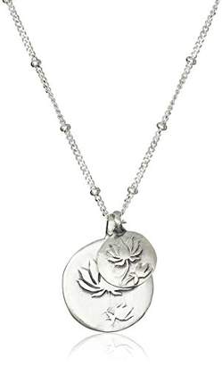 Satya Jewelry Sterling Double Lotus Necklace (18-Inch)
