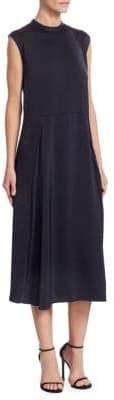 Victoria Beckham Victoria, Pleat Panel Midi Dress