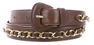 Chanel Leather Chain-Link Belt