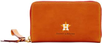 Dooney & Bourke MLB Astros Zip Around Phone Wristlet