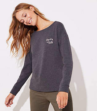LOFT Thanks A Latte Sweatshirt