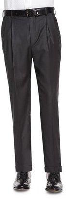 Zanella Bennett Pleated Super 150's Trousers $535 thestylecure.com