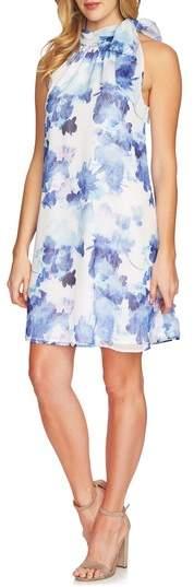 Dreamy Floral Tie Neck Halter Dress