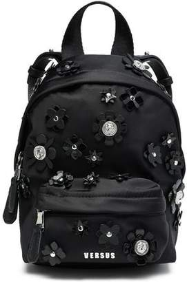 d47111793a Versace Floral-appliqued Shell Backpack