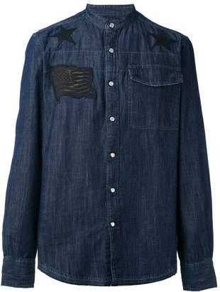 Hydrogen denim appliqué shirt