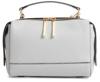 Milly Astor Leather Top Handle Satchel - Grey $325 thestylecure.com