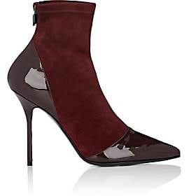 Pierre Hardy Women's Dolly Suede & Patent Leather Ankle Boots - Wine