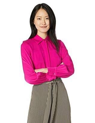 Milly Women's Stretch Silk Long Sleeve Collar Penelope Flowy top