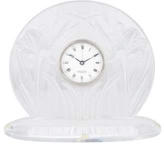 Lalique Iris Mantel Clock