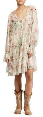 Polo Ralph Lauren Long Sleeve Floral Alexa Dress