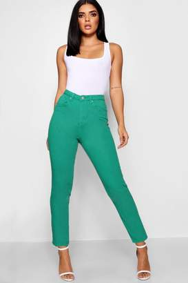 boohoo High Rise Colour Mom Jeans