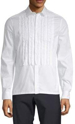 Valentino Pintuck Cotton Button-Down Shirt