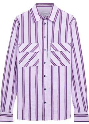 Stella Jean Striped Cotton-Blend Shirt