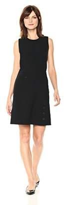 Anne Klein Women's Sleeveless Fit &Flare Button Skirt Dress
