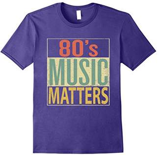 80s Music Matters Shirt. Vintage 80s Style Retro Colors Tee
