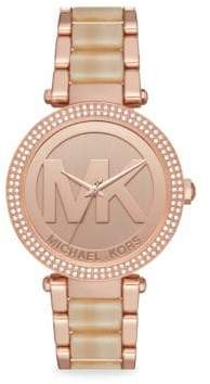Michael Kors Parker Rose-Gold Stainless Steel Bracelet Watch