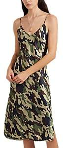 Nili Lotan WOMEN'S CAMOUFLAGE SILK SATIN SLIPDRESS