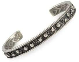 Skulls & Daggers Sterling Silver Cuff Bracelet