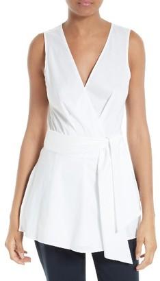 Women's Diane Von Furstenberg Sleeveless Poplin Top $268 thestylecure.com