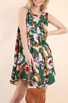 Umgee USA Floral Tropical Dress