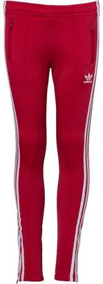adidas Junior Girls Supergirl Pants Pink/White