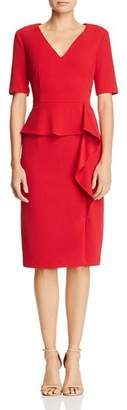 Adrianna Papell Crepe Peplum Dress