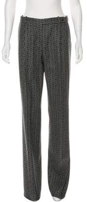 Celine Wool Logo Print Pants