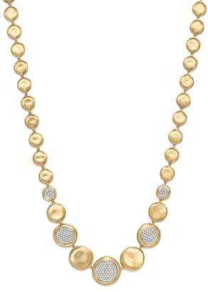 "Marco Bicego 18K White & Yellow Gold Diamond Pavé Jaipur Collar Necklace, 16"" - 100% Exclusive"