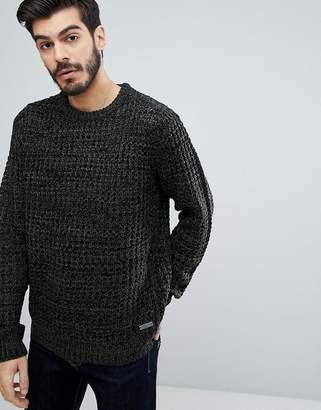 Brave Soul Color Twist Crew Neck Sweater
