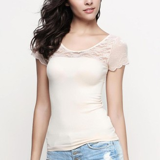 Pink Label Xenia Lace Short Sleeve Top