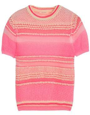 DELPOZO Cotton-Blend Crochet-Knit Top