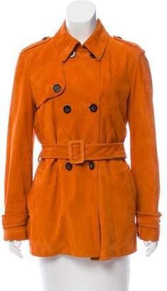Agnona Belted Suede Jacket