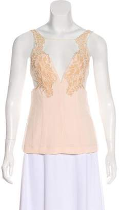 Alice McCall Sleeveless Mesh-Accented Top w/ Tags