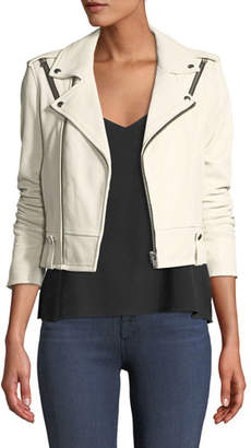 IRO Ozark Zip-Front Semi-Fitted Lamb Jacket