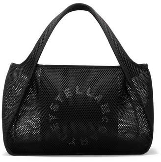 Stella McCartney Printed Canvas And Mesh Tote - Black