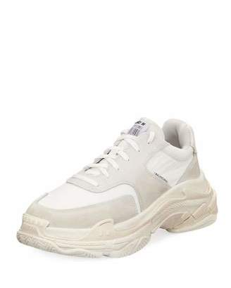Balenciaga Triple S Tonal Leather Sneaker