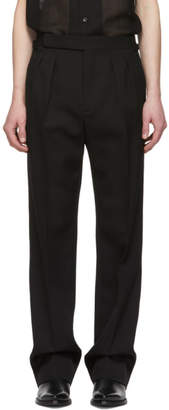 Saint Laurent Black High-Waisted Trousers